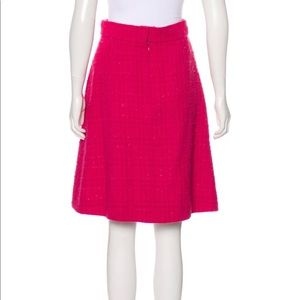 CHANEL Skirts - Chanel A 09 Fuschia Tweed Wool Skirt size 6 Small